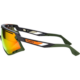 Rudy Project Defender Glasses black matte/olive orange stripes/olive/multilaser orange
